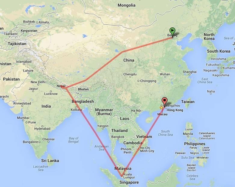 2013暑假旅行路线图