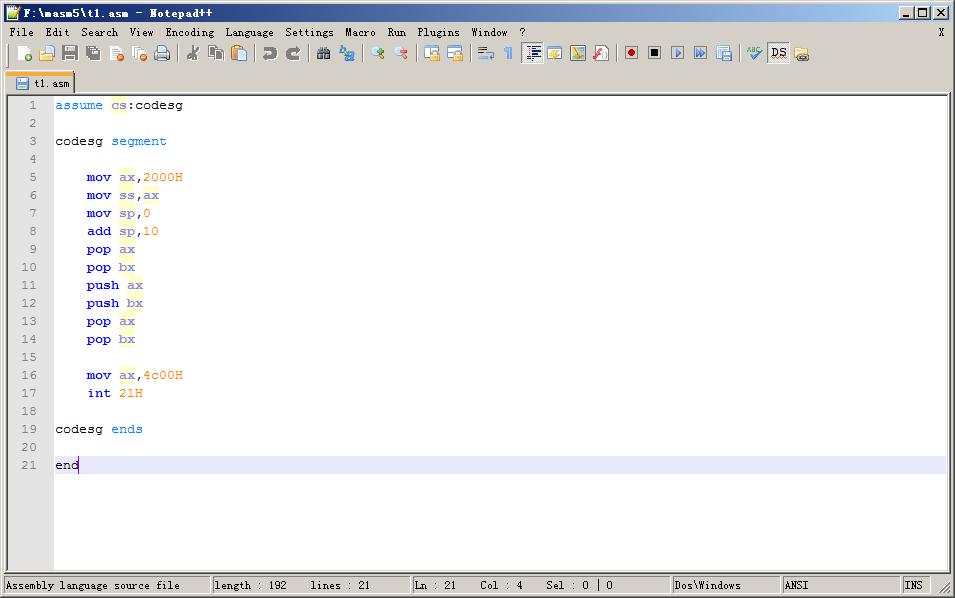 代码可以直接用Notepad++来编辑