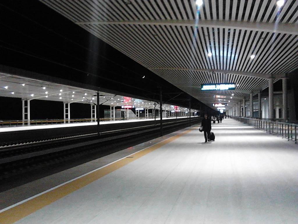 正定机场站站台