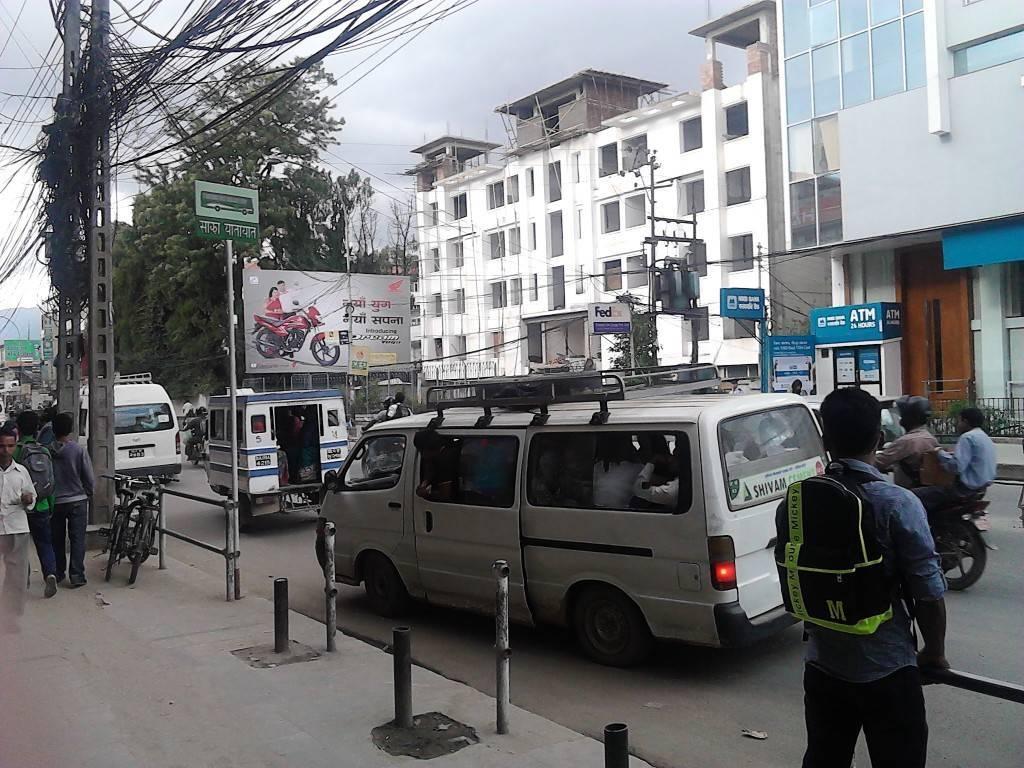Public transport in Thamel ,Kathmandu,Nepal.