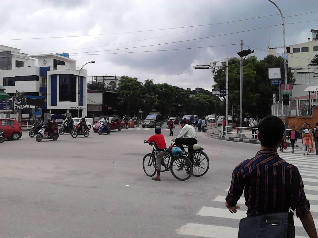 Street in Thamel, Kathmandu.