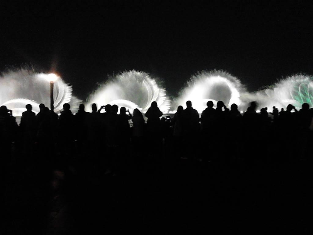 西湖的音乐喷泉