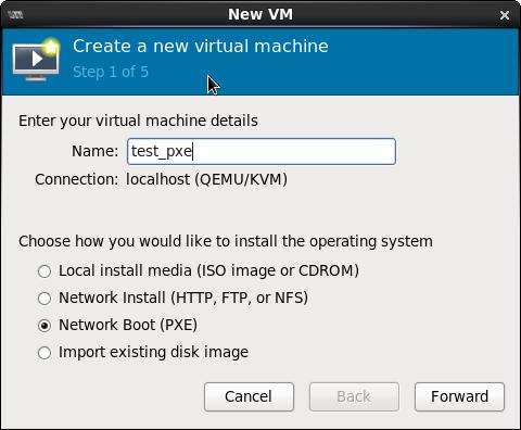 Screenshot-New VM