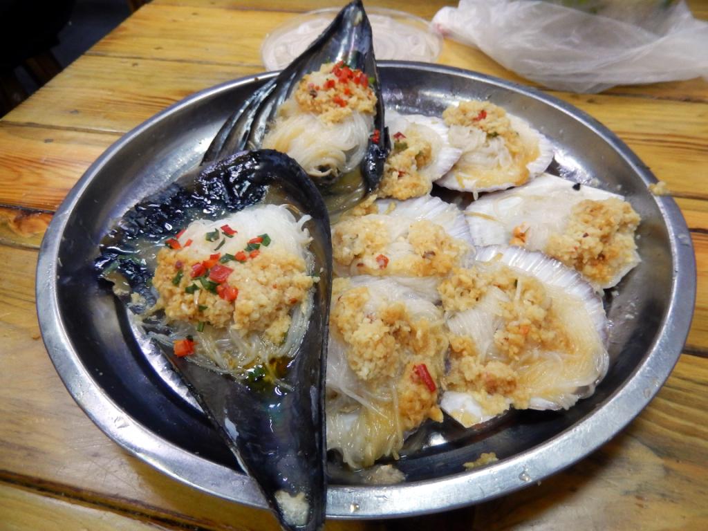 蒸熟的海鲜