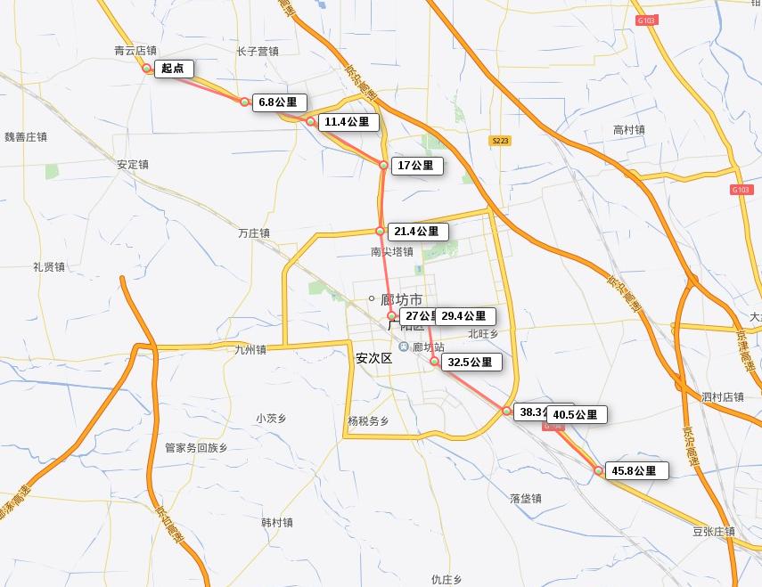 Langfang Route