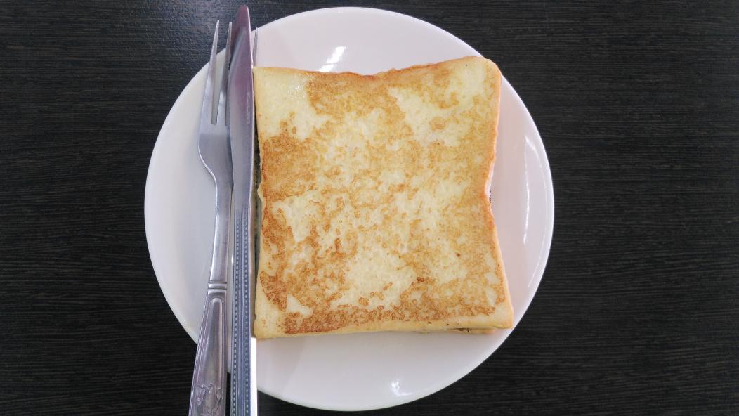 早午餐店的吐司